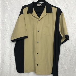 Cruisin USA Mens XL XLarge Retro Tan Black Bowling